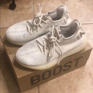 Authentic yeezys boost 350 shoes white size 6